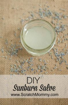 This DIY sunburn salve is really easy to make and only contains a few ingredients that you most likely already have.