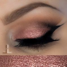 'Birthday Wish!' look by Linzlewsions using Makeup Geek's Bling, Cocoa Bear, Corrupt and Peach Smoothie eyeshadows along with Birthday Wish pigment.