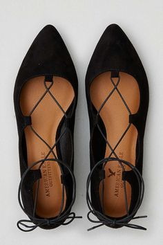 LACE-UP BALLET FLATS - The Best Finds Under $100 at American Eagle Outfitters - Poor Little It Girl