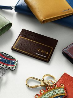 Selected Burberry accessories join our monogramming offering. Choose from a variety of foil colours to create a gift that's as personal as it is timeless.