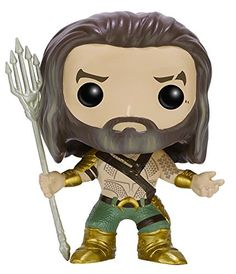 From the hit movie Batman vs Superman: Dawn of Justice Aqua man as a stylized POP vinyl from Funko! Figure stands 3 3/4 inches and comes in a window display box. Check out the other Batman vs Superm...