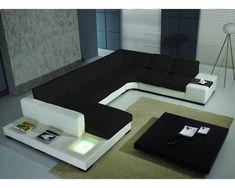 Canapé design Denver : Un magnifique canapé cuir d'angle panoramique au design contemporain