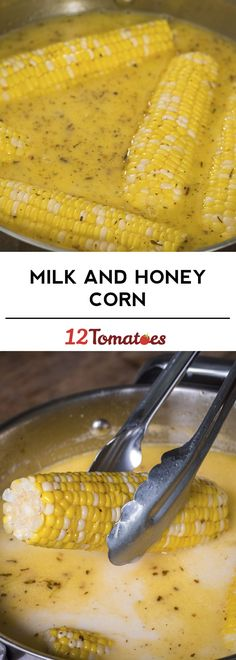 Milk & Honey Corn-on-the-Cob Corn Recipes, Side Dish Recipes, Vegetable Recipes, Side Dishes, Amish Recipes, Grilled Vegetables, Fruits And Veggies, Corn On Cob, Veggie Dishes