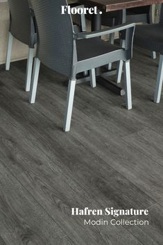 Pure grey. Perfectly complemented by natural wood furnishings or pops of color. A classic palette to build your vision on. With the Modin Collection, we have raised the bar on luxury vinyl plank. The result is a new standard in resilient flooring. Modin offers true embossed in register texture, a low sheen level, a rigid SPC core, an industry-leading wear layer, and so much more. Vinyl Plank Flooring, Luxury Vinyl Plank, Natural Wood, Color Pop, Core, Palette, Pure Products, Texture, Chair