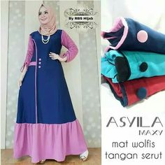 Batik Fashion, Abaya Fashion, Fashion Outfits, Womens Fashion, Casual Hijab Outfit, Hijab Dress, African Print Dress Designs, Dress Anak, Brokat