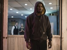 Netflix's Luke Cage was costumed by Stephanie Maslanky, who also worked on Marvel's Daredevil and Jessica Jones. Note how the drawstrings are removed from Cage's hoodies. This helps continuity during filming as they would move frequently and change length between shots.