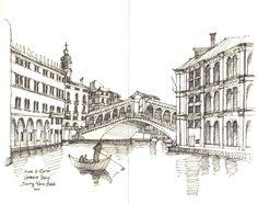 Ponte di Rialto, Venezia, Italy / sketch by Joungyeon, Bahk (Grid-A architecture) grid-a.net