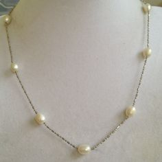 Bridal Saltwater Pearl Necklace by joytoyou41 on Etsy, $30.00