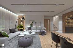 (Zawiercie) Projekt domu jednorodzinnego 12 - Salon, styl nowoczesny - zdjęcie od BAGUA Pracownia Architektury Wnętrz