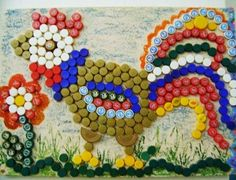 Bottle cap crafts are a wonderful way to reuse and recycle small metal and plastic bottle caps