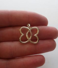 Sterling Silver Butterfly Pendant by onetime on Etsy, $4.25