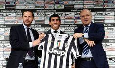 Tevez juventus conferenza stampa allo juventus stadium con la maglia n°10