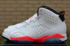 "Air Jordan 6 Retro PS (Pre School) ""White Infrared"""