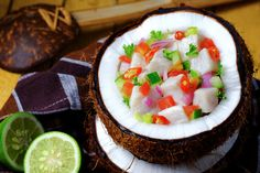 Kokoda is a citrus-marinated, coconut milk enriched, raw fish preparation original to the South Pacific country of Fiji. Click for recipe