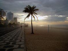 sunrise at Ipanema beach, Rio De Janeiro, Brazil