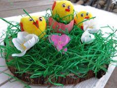 Un adorno súper sencillo para estas fiestas de Pascua. Anímate a hacerlo.