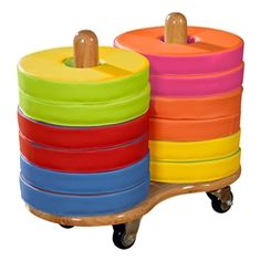 Colorful and easy-to-clean preschool seating!