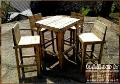 Rustic Table and chairs sets. Suitable for indoor and outdoor use. Rustic Table and