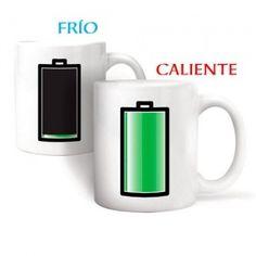 Taza con batería, se llena si le echas líquido caliente.    http://www.regatron.es/regalos-originales/para-el-hogar/taza-de-bateria-frio-calor.html