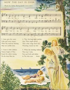 Now The Day Is Over Vintage Lullaby Hymn Note Cards by GospelHymns