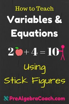 FREE Worksheets to help you teach Variables and Equations to your Pre-Algebra Class. We give you Guided Notes, PowerPoint, Bell Work, Exit Quiz, and more! Algebra Games, Algebra Lessons, Algebra Activities, Math Lesson Plans, Math Resources, Algebra Help, Algebra Equations, Algebra 1, Math Teacher