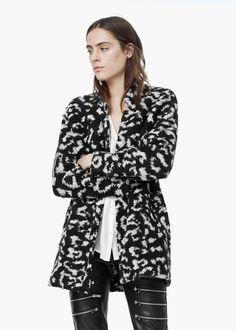 Bouclé mohair-blend coat - Coats for Women | MANGO