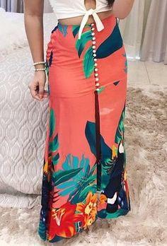 Maxi Skirt Outfits, Boho Outfits, Classy Outfits, Fashion Line, Trendy Fashion, Womens Fashion, Maxi Wrap Dress, Dress Skirt, African Fashion