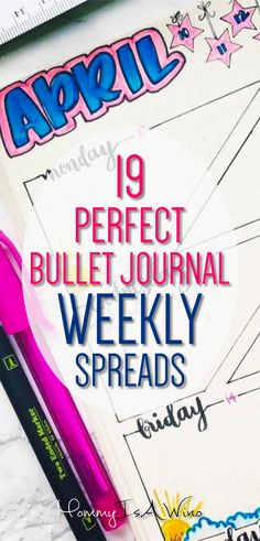 19 Perfect Bullet Journal Weekly Spreads - Bullet Journal ideas for your weekly spread