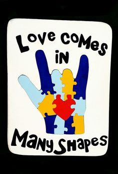 Autism Awareness ASL I.L.Y. PUZZLE Etsy listing at https://www.etsy.com/listing/98447078/ily-autism-awareness-wooden-puzzle-asl