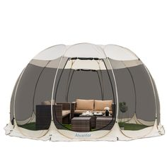 Screen House Outdoor Pop Up Canopy Tent Patented – Alvantor Screen Tent, Screen House, Outdoor Gazebos, Canopy Outdoor, Patio Gazebo, Tent Camping, Outdoor Camping, Camping Ideas, Family Camping