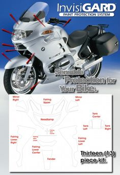 InvisiGARD Invisible Clear Paint & Headlight protection kits for BMW R 1150 RT