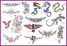 Set 6 Book 15 LG Reusable Airbrush Temporary Tattoo Stencil Art Designs Template for sale online Temporary Tattoo Paper, Temporary Tattoo Designs, Henna Tattoo Designs, Permanent Tattoo, Henna Tattoos, Tattoo Ideas, Skull Stencil, Tattoo Stencils, Stencil Art