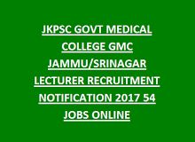 Jkpsc Govt Medical College Gmc Jammu Srinagar Lecturer Recruitment