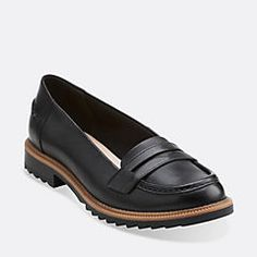 Griffin Milly Black Leather - Women's Flats - Clarks® Shoes