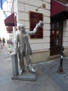 Statue in Bratislava Old town, Slovakia