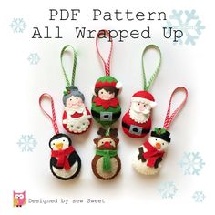 All Wrapped up Christmas Ornament decorations PDF di sewsweetuk