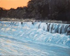 ARTFINDER: Silver Creek Falls by William F. Adams - This acrylic painting is inspired by a waterfall on Silver Creek, a few miles from my house just outside Richmond Kentucky. Daniel Boone ( A Great American F...