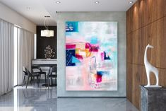 Items similar to Large Abstract Canvas Art,Extra Large Abstract Canvas Art,painting on canvas,modern abstract,extra large wall art on Etsy Large Abstract Wall Art, Large Painting, Textured Painting, Painting Art, Art Paintings, Abstract Paintings, Oversized Canvas Art, Bright Paintings, Extra Large Wall Art