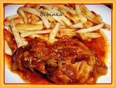 Delikatesní vepřové plátky se zálivkou recept - TopRecepty.cz Good Food, Food And Drink, Treats, Chicken, Cooking, Recipes, Tasty Food Recipes, Author, Boleros
