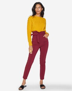 This is what I wear to work in the best days Casual Outfits, Fashion Outfits, Womens Fashion, Burgundy Skirt, Spring Work Outfits, School Looks, Skinny, What I Wore, Work Wear
