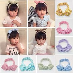 Baby Girls Hair Accessories Toddler Bowknot Hairband Headband Hair Band Headwear