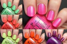 Adventures In Acetone: Swatch Saturday: OPI Neons Collection!