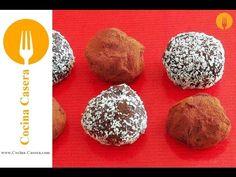 Trufas caseras de chocolate. Vídeo y Receta fácil y sencilla | Recetas de Cocina Casera - Recetas fáciles y sencillas