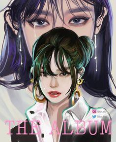 Blackpink Poster, Lisa Blackpink Wallpaper, Kpop Drawings, Applis Photo, Black Pink Kpop, Digital Art Girl, Blackpink Photos, Pictures, Pink Art
