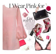 """""""In Pink"""" by magdafunk ❤ liked on Polyvore featuring Bobbi Brown Cosmetics, Whiteley, Mary Katrantzou, Cynthia Rowley, MSGM, River Island, Nine West, Henry London, Essie and IWearPinkFor"""