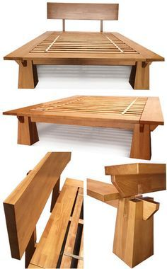 Ranch Western Furniture and Rustic Furniture Reclaimed Wood Bed Frame, Solid Wood Bed Frame, Bed Frame Design, Diy Bed Frame, Bed Frames, Bed Design, Wakayama, Western Furniture, Rustic Furniture