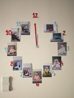 clock with photos from the first year of life; party decoration / red and blue party / first birthday party / one year old clock with photos from the first year of life; party decoration / red and blue party / first birthday party / one year old 1 Year Old Birthday Party, 1st Birthday Photoshoot, Boy Birthday Parties, 1st Birthday Decorations Boy, Birthday Ideas, Baby Boy First Birthday, First Birthday Photos, Foto Baby, 1st Birthdays