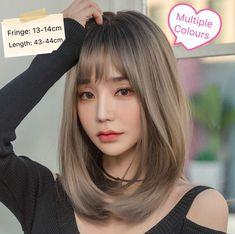 Korean Medium Hair, Korean Hair Color, Korean Short Hair, Medium Hair Cuts, Medium Hair Styles, Short Hair Styles, Korean Bangs, Korean Haircut, Shoulder Length Hair With Bangs