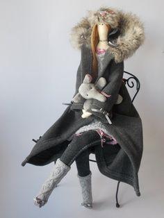OOAK art doll Tilda doll Perla tilda doll home by MadeByMiculinko