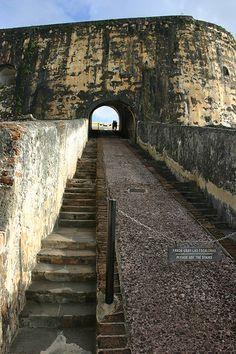 Stairway inside El Morro Old San Juan
